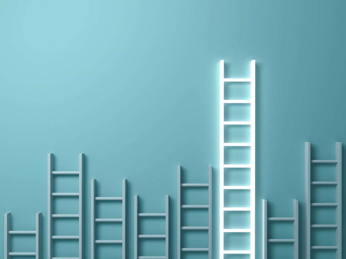 Which UK regions have the shortest housing ladders?