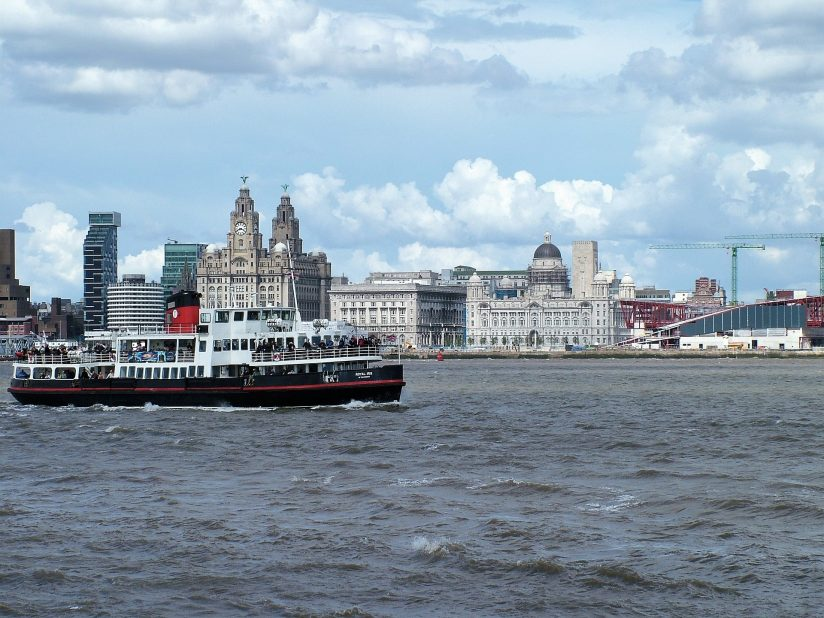 Liverpool waterfront with the Three Graces