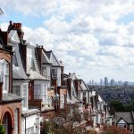 Houses in London with a view of the City