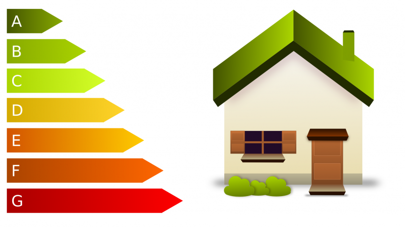 Graphic showing energy efficiency ratings